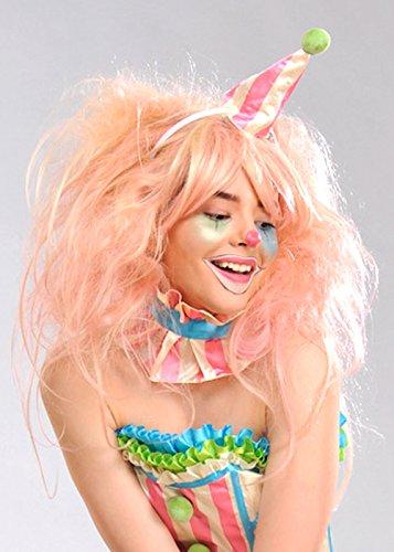 Magic Box Int. Womens Deluxe Candy Floss rosa Clown Perücke