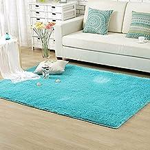 Alcyoneus peluche suave Shaggy alfombra dormitorio antideslizante puerta piso alfombrilla Habitación Área Alfombra, azul, 60cm * 120cm