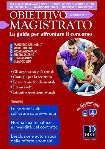 Obiettivo magistrato. La guida per affrontare il concorso (2017): 12