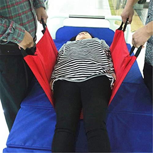 ZENGZHIJIE Gepolsterter Betttransfer-Pflegegurt, Transfergurt für Patientenlifter, sicherer Transfergurt, Bewegungsunterstützender Hebezeug-Ganggurt für schwere Lasten (400 Pfund)