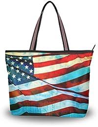 Amazon.it: bandiera americana - Borse a spalla / Donna: Scarpe e borse