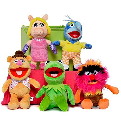 DIE Muppet Show Komplettes Set 5 Verschiedene Plüsch Spielzeug 20cm Kermit der Frosch Miss Piggy Fozzie Bär Gonzo Animal Disney Original Muppets