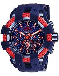 Invicta 26008 Marvel - Spiderman Reloj para Hombre acero inoxidable Cuarzo Esfera azul