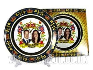Royal Wedding Decorative Porcelain Plate 15cm Detailing Prince William & Catherine