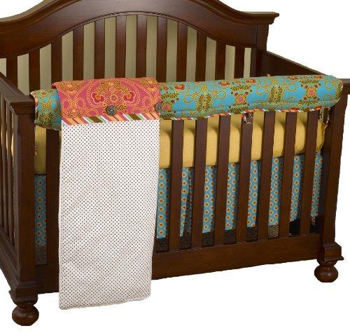Cotton Tale Designs avant Crib Rail Cover Up Lot, Gypsy en coton Tale Designs