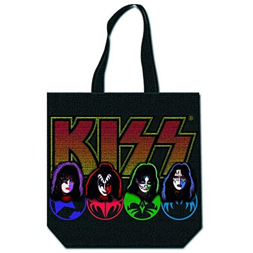 Kiss - Rock Band - Shopper Tasche - Faces - Logo