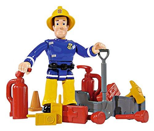 - 51X1CqXPPrL - Simba 109257661 – Feuerwehrmann Sam Jupiter Feuerwehrauto mit 2 Figuren, 28 cm