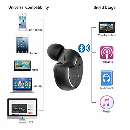 [2018 Version] Avantree Mini In Ear Bluetooth Kopfhörer für Motorradhelm GPS Navi, Podcasts, Audiobooks, Kabellos Unsichtbarer Kleiner Ohrhörer Ohrstöpsel, Wireless Kleinste Motorrad Headset (Nur rechtes Ohr) - 5