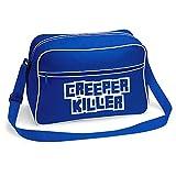 Creeper Killer Gamer Shoulder School Bag (Royal Blue)
