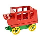 1 x Lego Duplo Kutsche rot Pferdekutsche Base Stein 2x8x1 grün Räder Speichen gross gelb Set 9185 31176 31174c04