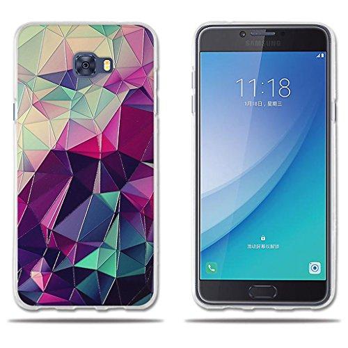"""fubaoda Funda Samsung Galaxy C7 Pro, 3D Relear,Dibujo de Colorido Cubo Mágico, Flexible Funda Protectora Anti-Golpes para Samsung Galaxy C7 Pro (5.7"""")"""