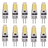 Glühlampen, Home Leuchtmittel LED Leuchtmittel, G4LED-Sockelung Lichter 3W 6SMD 5730150–180lm warmweiß/kaltweiß T Leuchtmittel Deko DC 12V 10pcs-pack Warm White