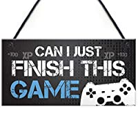 RED OCEAN Gaming Sign For Boys Bedroom Man Cave Son Birthday Xmas Gift Playstation Fan Gift