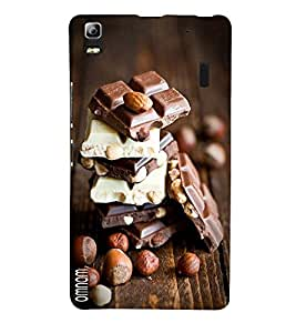 Omnam Choclates Lying On Each Other Beautiful Created Back Cover Case For Lenovo K3 Note