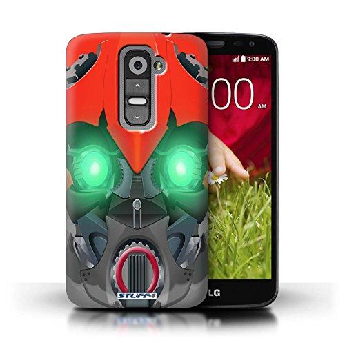 Kobalt® Imprimé Etui / Coque pour LG G2 Mini/D620 / Opta-Bot Vert conception / Série Robots Bumble-Bot Rouge