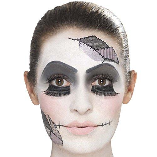 Schminkset Gothic-Puppe Makeup-Set Zombiepuppe mehrteilig Beauty Kit Halloween Schminke Kosmetik kaputte Puppe Styling Gruseloutfit Horrorkostüm (Puppe Up Make Halloween)