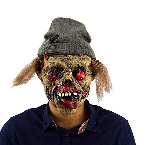 PJHGS Scary Clown MaskeHalloween MaskeCarnaval Silikon Weibliche Masken Männer Maskerade (Clown Weibliche Scary)