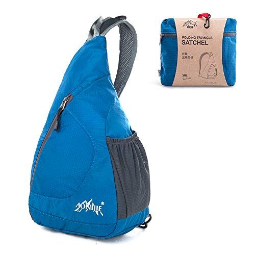 Monospalla GSTEK Zaino Spalla Packable Leggero e Pieghevole Adatto a Sport, Ciclismo, Trekking, Campeggio e Scuola per Uomo Donna - Blu