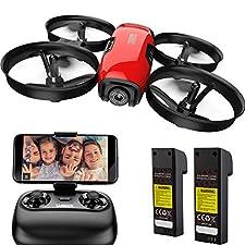 Die SANROCK U61W-Minidrohne verfügt über eine einstellbare Kamera, eine auswechselbare Akkulaufzeit, eine längere Flugzeit und mehr Spaß Einstellbare Kamera Die Kamera kann manuell (ca. - 90 °) eingestellt werden, um den Anforderungen einer breiteren...