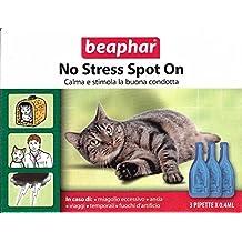 Beaphar - Pipetas antiestrés para gatos (100% natural a base de valeriana, 3 pipetas de 0,4 ml)