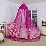 Brownrolly Dôme décoratif de moustiquaire d'auvent de lit de Princesse, Filet de Moustique d'auvent de lit d'enfants pour la Maison de Jeux bébé garçons et Filles Jouant la Lecture