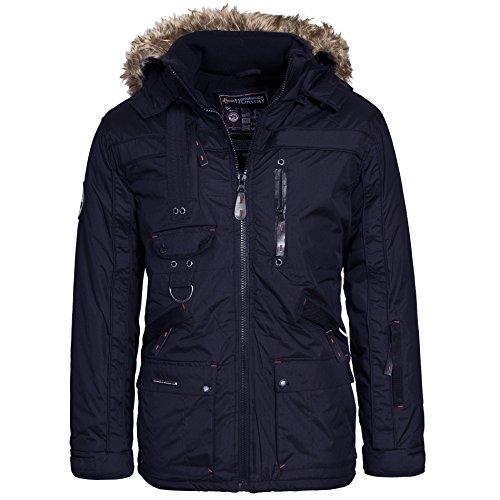 Geographical Norway CHIR Premium Herren Winterjacke Jacke Parka Gr. S-XXXL, Größe:M;Farbe:Navy