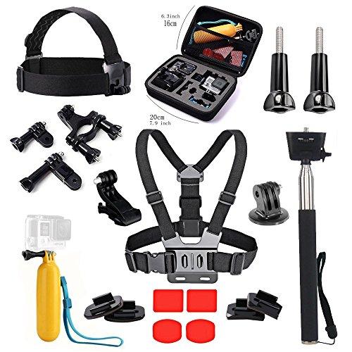 Preisvergleich Produktbild Tek-Essential Zubehör Bundle Kit mit Fall für GoPro Hero 6 5 schwarz Akaso ek7000 4 K Apeman Crosstour Wasserdicht Action Kamera Outdoor Kamera Zubehör Set