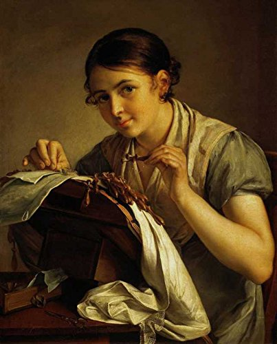 Poster Maker (Das Museum Outlet - Wassili Andrejewitsch Tropinin - The Lace Maker - Poster Druck Online (A3 Poster))