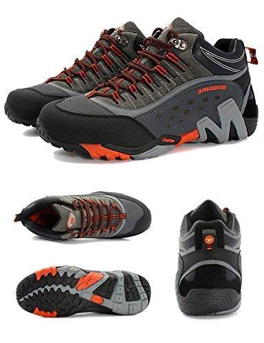 SANANG Escursionismo per Uomo Escursionismo per Escursionismo per Il Tempo Libero Scarpe Sportive Scarpe da Ginnastica Escursionismo Lacci Stivali da Allenamento 35-46 Arancione Grigio