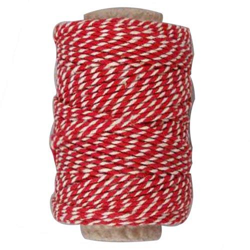 Creativ Baumwollschnur, 1,1 mm, rot/weiß, 50 m