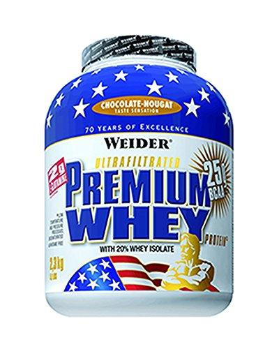 Weider Premium Whey Proteinpulver, Low Carb Proteinshakes mit Whey Protein Isolat, Schoko-Nougat, (1x 2,3 kg) -