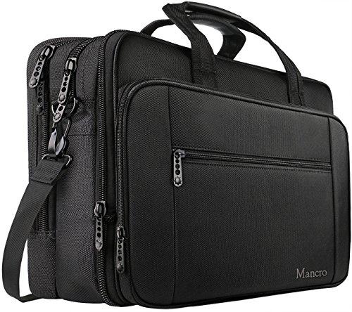 MANCRO 18.4 Zoll Laptop Tasche Business Aktentasche große Umhängetasche Wasser Resisatant Multi-funktionale erweiterbare Computer Tasche Schultertaschen
