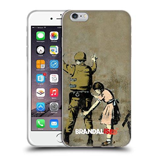 Ufficiale Brandalised Palloncini Gerusalemme Banksy Arte Tag Di Strada Cover Morbida In Gel Per Apple iPhone 6 / 6s Soldato Perquisito