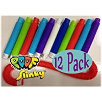 POOF-Slinky Pop Toobs Bundle of 12 - Assorted Colors by Pop Toobs
