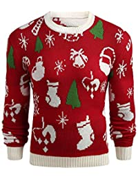 Sweats Homme Noël, GongzhuMM Pull Noel Hommes Pullover Sweatshirt Sweater Tee-Shirt Sweat À Capuche Men Plus Size Christmas
