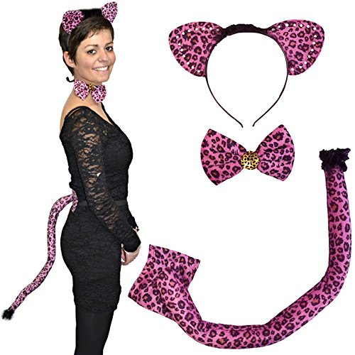 Preisvergleich Produktbild German Trendseller® - Der Rosarote Panther Set - Deluxe 3 teilig Kostümset Karneval / Fasching