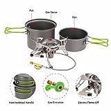 DETECH Ventilateur Camping Titanium Pot Pan Casseroles Set Coupe-Vent Gaz Poêle Four Cuisiner