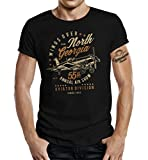 Air-Force Pilot Flieger Army T-Shirt: Wings Over Georgia L