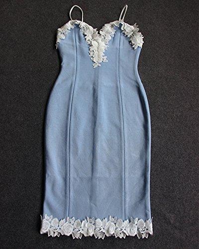 Whoinshop -  Vestito  - Maniche lunghe - Donna Blau