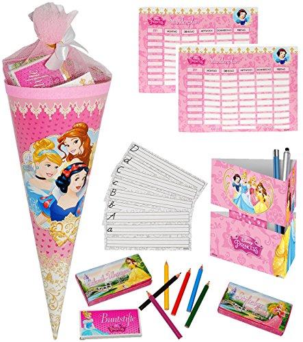 alles-meine.de GmbH 1 Set _ gefüllte Schultüte -  Disney Princess - Prinzessin  - Incl. Name - L..
