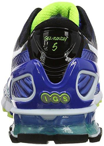 ASICS Gel-Kinsei 5, Chaussures Multisport Outdoor Hommes Bleu (Blue/White/Emerald Green 4201)
