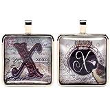 Santa Barbara Design Studio Alphabet Letter Jewelry Charm by Artist Sally Jean, X for XOXO