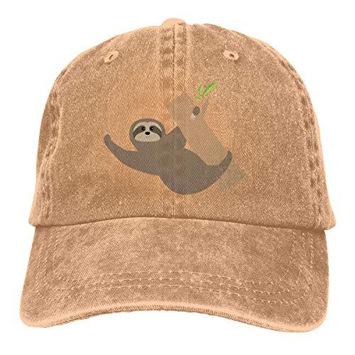 Cowboy Hat Sloth Lying On Tree Denim Skull Cap Baseball Cowgirl Sport Hats for Men Women Cowgirl Cadet Cap