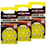 ANSMANN Hörgerätebatterien 10 gelb 18 Stück -...