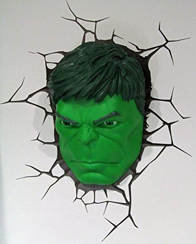 Wandleuchte Nachlicht Hulk's Kopf 3D Light FX LED Lampe mit - Gesichts-licht-schalter