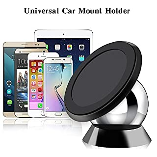Rheme Magnetic Phone Holder, Latest 360 Degree Rotatable in Car Mobile Phone Holder Mount Sticky Magnetic Car Dashboard Cradle for iPhone 7 / 6s / SE(Silver)