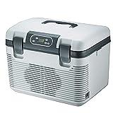 WYJW Mini refrigerador Nevera de Coche compresor eléctrico de Caja fría Calefacción y refrigeración 12V / 220V Refrigerador de Coche portátil Compacto 19L Gran Capacidad Viajar y AC