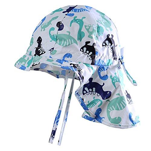 MeekEra Sombrero de Algodón de Verano para Bebés con Barbijo Ajustable Anti-UV  Gorro de 1d8231d37e6