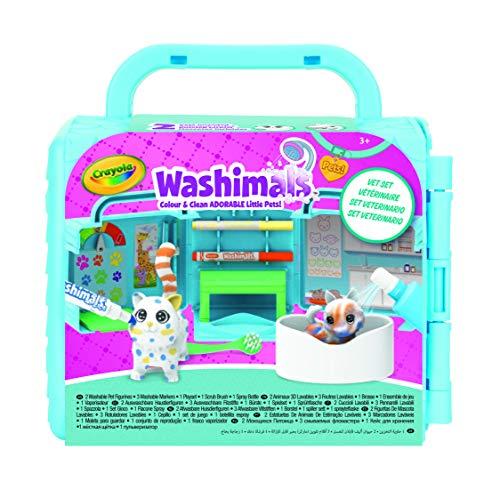 CRAYOLA Washimals Set Studio Veterinario, per Colorare e Fare il Bagnetto ai Cuccioli, Gioco e Regalo, da 3 Anni