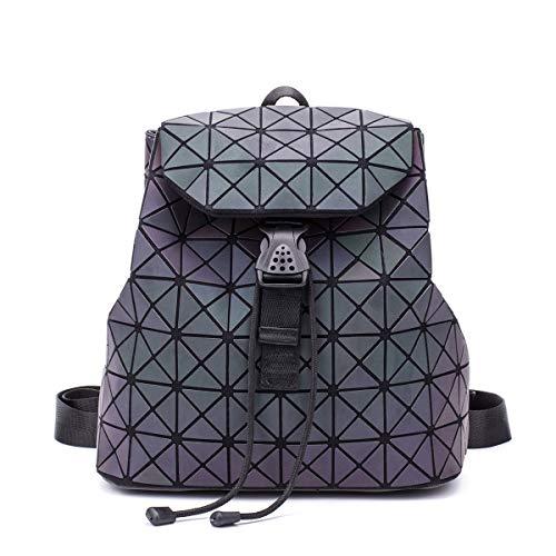Preisvergleich Produktbild Neuer leuchtender Rucksackpeelingschultasche Geometrie-Rautenrucksack faltender Handtaschenrucksackrucksackrucksack im Freien (Rucksack 4)